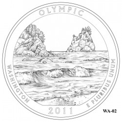 Olympic National Park Quarter Design Candidate Washington WA-02
