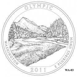 Olympic National Park Quarter Design Candidate Washington WA-03