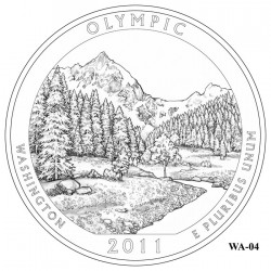 Olympic National Park Quarter Design Candidate Washington WA-04