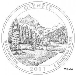 Olympic National Park Quarter Design Candidate Washington WA-04