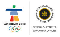 Royal Canadian Mint Official Vancouver 2010 Supporter