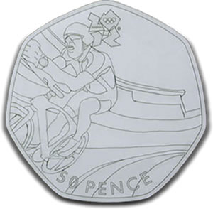 Theo Crutchley-Mack Designed Olympic Cycling 50p Coin