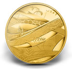 Vancouver 2010 5-Ounce Gold Coin -- Look of the Games (2010)