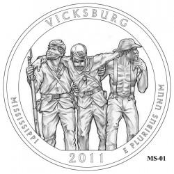 Vicksburg National Military Park Quarter Design Candidate Mississippi MS-01