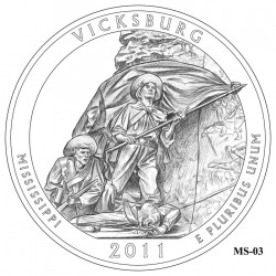 Vicksburg National Military Park Quarter Design Candidate Mississippi MS-03