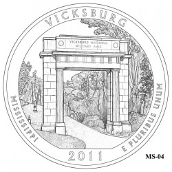 Vicksburg National Military Park Quarter Design Candidate Mississippi MS-04