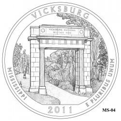 Vicksburg National Military Park Quarter Design Candidate Mississippi MS-04