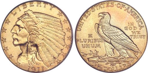 1911-D Quarter Eagle