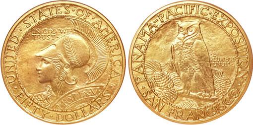 1915-S $50 Panama-Pacific 50 Dollar Round