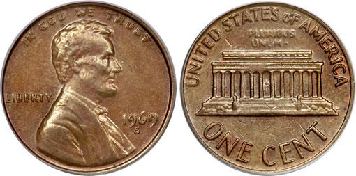 1969-S 1C Doubled Die