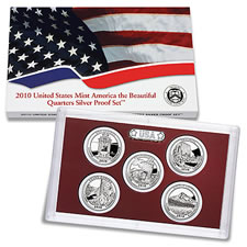 2010 America the Beautiful Quarters Silver Proof Set
