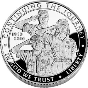 2010 Boy Scouts Silver Dollar Obverse