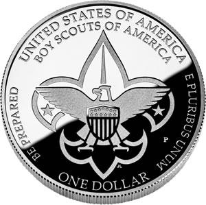2010 Boy Scouts Silver Dollar Reverse
