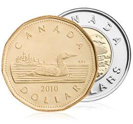 Canadian $1 and $2 Coins