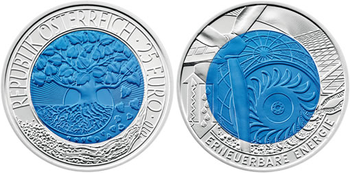Austrian Renewable Energy Bimetallic Coin
