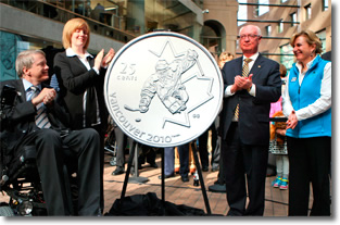 Canadian Ice Sledge Hockey Coin Unveiling