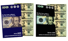 Series 2009 $20 Uncut Currency Sheets
