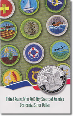 US Mint 2010 Boy Scouts of America Centennial Silver Dollar Brochure