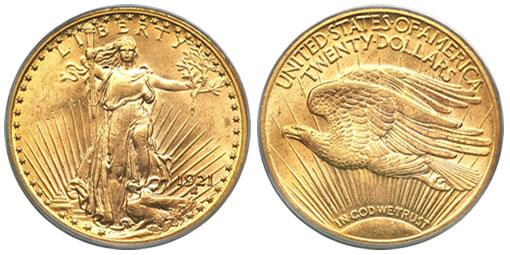 1921 Saint-Gaudens Double Eagle