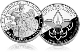 2010 Boy Scouts proof silver dollar