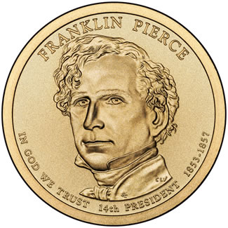 2010 Franklin Pierce $1 Uncirculated Coin