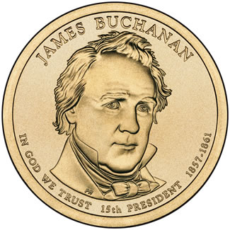 2010 James Buchanan $1 Uncirculated Coin
