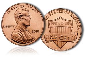 2010 Lincoln Shield Cent