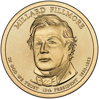 2010 Millard Fillmore $1 Uncirculated Coin