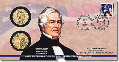 Millard Fillmore Presidential Dollar Coin Cover