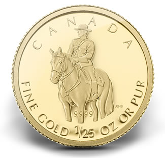 2010 RCMP 1/25 OZ GOLD COIN