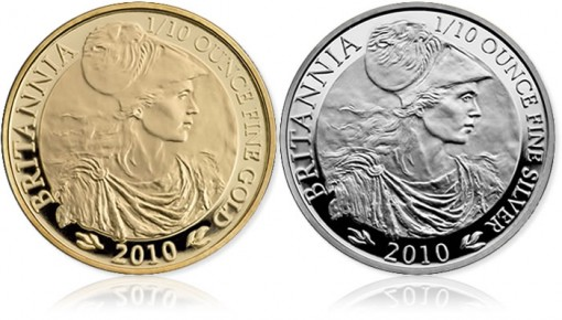 2010 UK Britannia Gold and Silver Coin