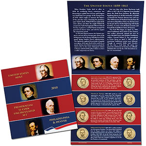 2010 U.S. Mint Presidential $1 Coin Uncirculated Set