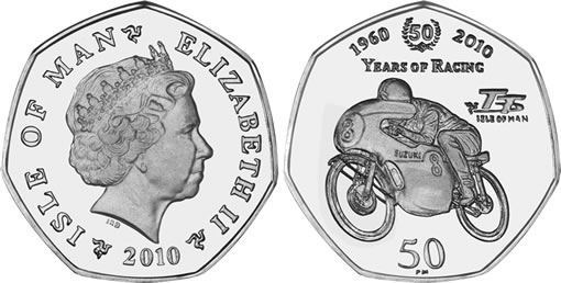 50 Pence Suzuki Racing Commemorative Coin