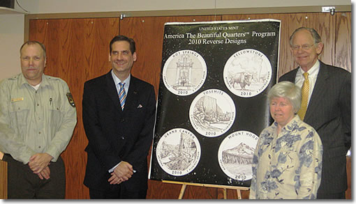 Delaware Congressman Mike Castle at Quarters Ceremony