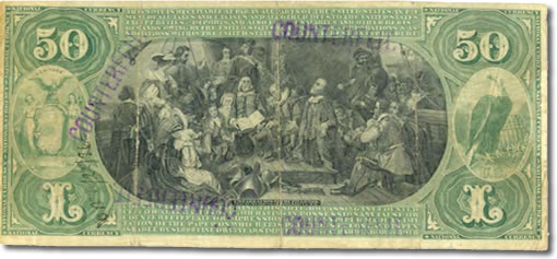 Counterfeit $50 national currency note