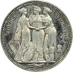 "Lot 1406 George III, Pattern Crown, the ""Three Graces"", 1817"