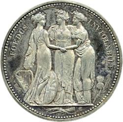 "Lot 1406 George III, Pattern Crown, the ""Three Graces"", 1817"