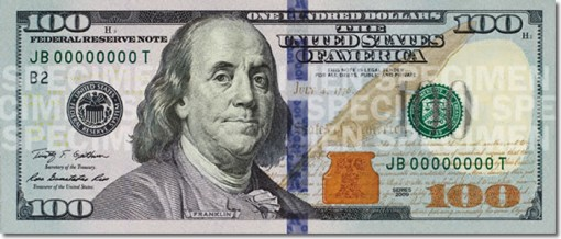 New $100 Bill (Front)