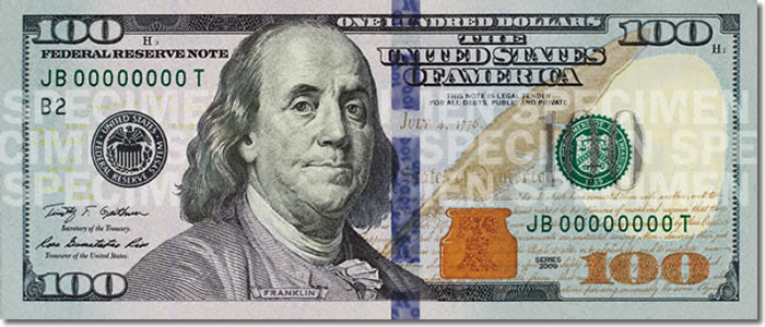 100 dollar bill secrets. new $100 bill takes aim at