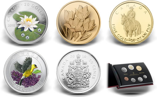 Royal Canadian Mint Spring 2010 Collector Coins