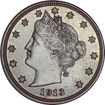 George O. Walton specimen 1913 Liberty Head nickel