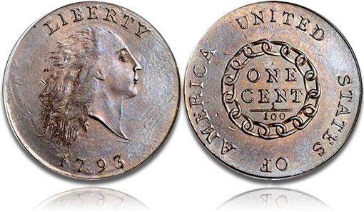 1793 S-2 cent, PCGS MS65BN