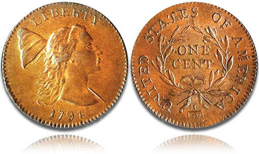 1794 Head of 1793 cent