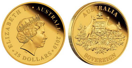 2010 Gold Proof Australian Sovereign Coin