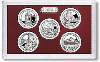 2010 US Mint America the Beautiful Quarters Silver Proof Set