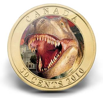 Canadian Daspletosaurus Torosus Dinosaur 50-Cent Coin