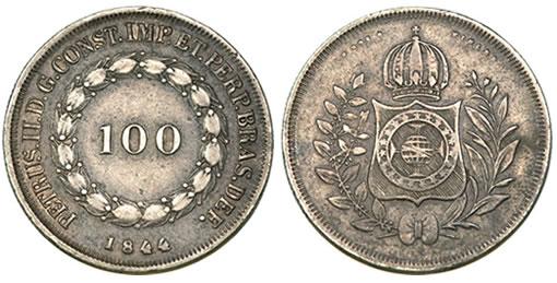 Rare Brazilian 100 Reis Coin