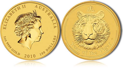 2010 Year of the Tiger Gold Bullion Coin