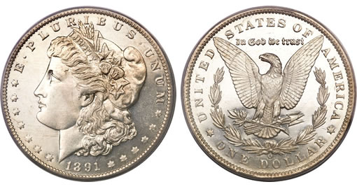 1891-O Morgan Dollar