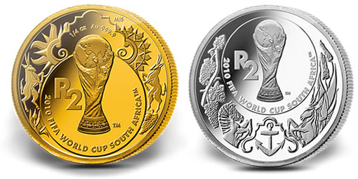 2010 FIFA World Cup Gold and Silver Coins